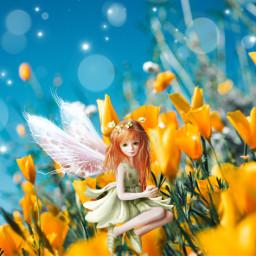 picsart fantasy multicolor creative flowers interesting edit myedit beautifuledit love angel remixit freetoedit