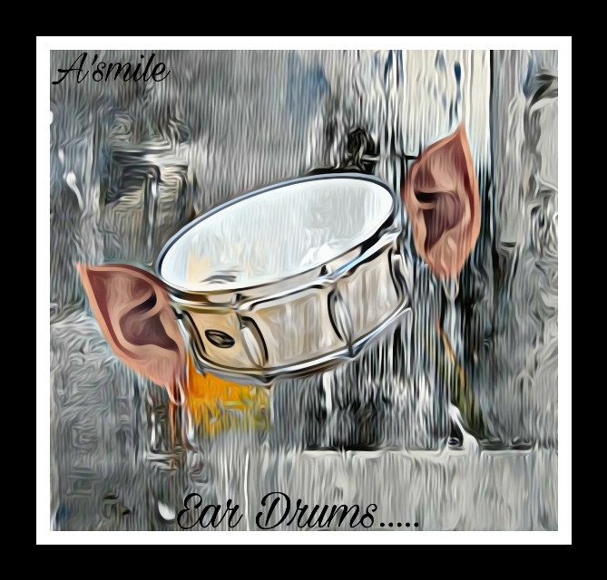 #@asweetsmile1 #eardrum #ear #drum #blendedimages #blend #funny #cute #surreal #surreality #picsart #sumple