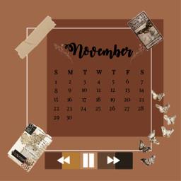 calender aesthetic november novembercalender beige butterflies cute autumn freetoedit srcnovembercalendar novembercalendar