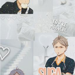 suga sugawara sugawarakoushi haikyuu anime whiteaesthetic greyaesthetic freetoedit