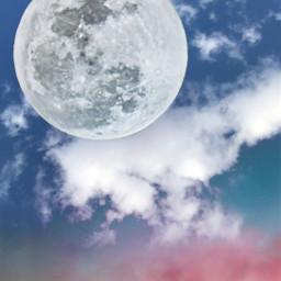 freetoedit myedit background backgrounds moon sky cloud skylovers araceliss