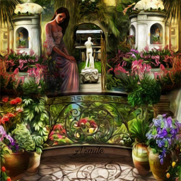 @asweetsmile1 background blendedimages blend creative creativeart garden flowers picsart simple