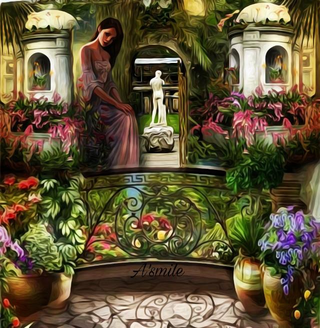 #@asweetsmile1 #background #blendedimages #blend #creative #creativeart #background #garden #flowers #picsart #simple