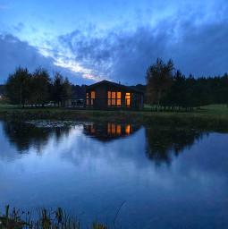 evening lakesideview dimpsy nature beautifulscenery remixme freetoedit