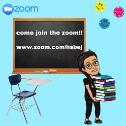 pfp picsart bitmoji books zoom desk school stickers smile call meeting online chalkboard freetoedit