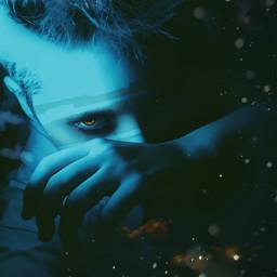 blue darkness demon freetoedit