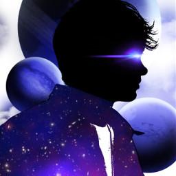doubleexposure editedstepbystep silhouette galaxy lensflare futuristic madewithpicsart freetoedit