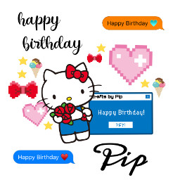 birthdaygirl helokitty birthday compation freetoedit echappybirthdayhellokitty happybirthdayhellokitty hbdhellokitty