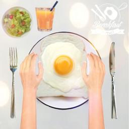 breakfast breakfasttime egg sunnysideup salad orangejuice freetoedit ircmyfavoritetoast myfavoritetoast