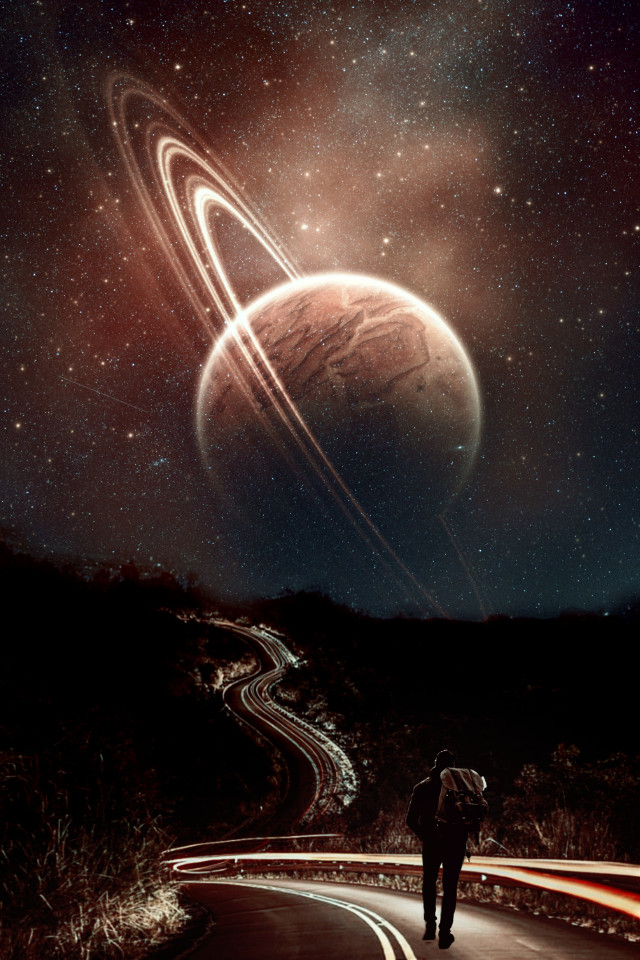 #replay #picsartreplay #art #dark #planet #alone