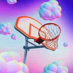 clouds rainbow basketball freetoedit irchoopdreams hoopdreams
