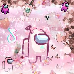 aesthetic amongus pink pinkaesthetic peachy starbucks iphone11 flowers tiktok sparkle message colours whatuwant makingart foryou anything plscomment emojis cartoons vibrant crazy background screensaver allthehashtags freetoedit