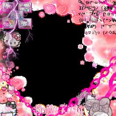 hellokitty pink pinkframe kuromi melody melodyframe soft softframe alt alternative hellokittyframe frame cuteframe cute uwu cuteness freetoedit