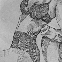 art woman body female sjetch pencil