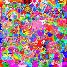 indie kidcore rainbow
