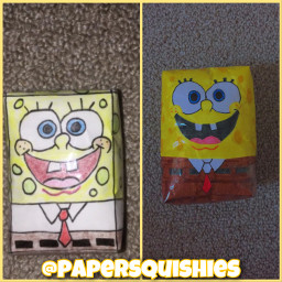 freetoedit papersquishy spongebob spongebobsquarepants yellow tags 4kfollowers art crafts interesting colorful aesthetic fonts picsart tvshow cartoon nickelodeon papersquishie