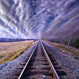 freetoedit remixit travel traintracks railway railroadtracks follow trending fanart peace autumn fall art