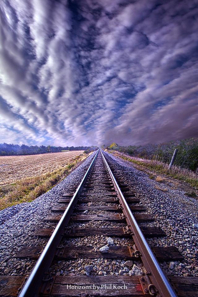 """ An Act of Continuing "" - Wisconsin Horizons by Phil Koch. #freetoedit #remixit #travel #traintracks #railway #railroadtracks #follow #trending #fanart #peace #autumn #fall #art"