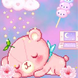 pixel pixelkawaii cute kawaii bear cutebear aww freetoedit
