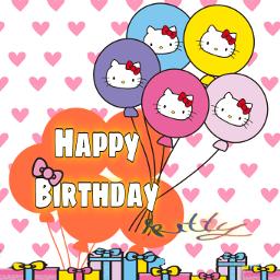 freetoedit happy happybirthday birthday happybirthdaykitty kitty echappybirthdayhellokitty happybirthdayhellokitty hbdhellokitty