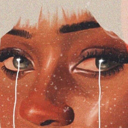 art trippy tear sad eyes