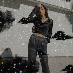 black outfit interesting art summer photography travel blackoutfit clounds blackclouds glitter blackglitter freetoedit chill luciamoon srcblackclouds