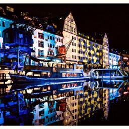 illuminated myberlin nightphotography harbor port berlinleuchet freetoedit