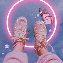 pinkaesthetic sparkle glitter shimmer freetoedit neonpink neon cool atching butterflies aesthetic nice fun rcneonlight neonlight