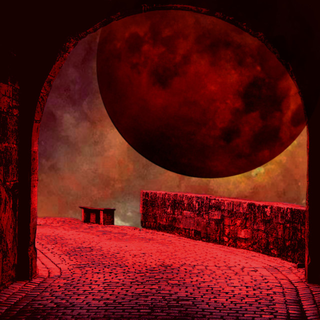 #red #moon #sky #sticker #remix