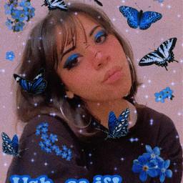 blue blueaesthetic oddcore glitchcore weirdcore altcore altgirl egirl gothgirl freetoedit