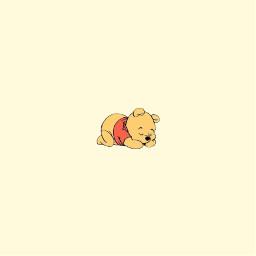 baby poohbear yellow pastel yellowpastel wallpaper pastelwallpaper wallpapers pastelwallpapers freetoedit