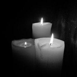 blackandwhite candle fire myphotography freetoedit