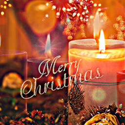 remixed candles flower pinecones merrychristmas text christmas quote holidays freetoedit