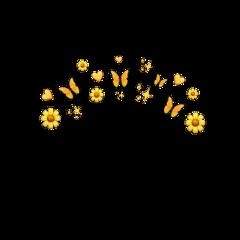 emoji emojibackground emojisticker emojicrown crown halo angel heart emojiselfie emojis emojiiphone pngbyet emojibackgrounds background glitter yellow yellowaesthetic buterflies freetoedit