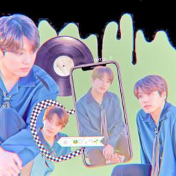 jk jungkook bts army pastel aesthetic cute jeonjungkook green