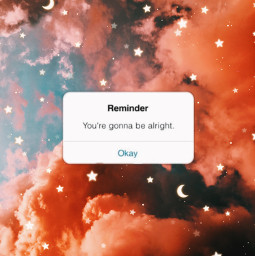 clouds reminder yourgonnabealright yourgonnabeokay stayhappy aesthetic vintage star stars moon moons pinkcloud pinkclouds pink orangecloud orangeclouds orange reminderiphone iphone iphonereminder freetoedit