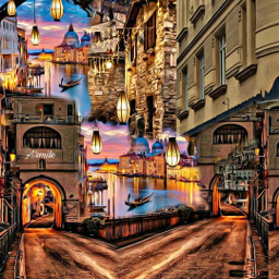 @asweetsmile1 city italy lights latern background blendedimages blend creative creativeart