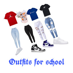 ootd outfitideas outfits nike jordans shoes school freetoedit