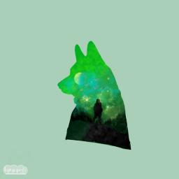 draw. mydrawing wolf green sky freetoedit aesthetic draw
