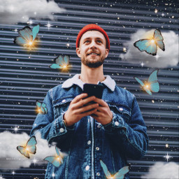 freetoedit sparkles clouds butterflies butterfly aesthetic