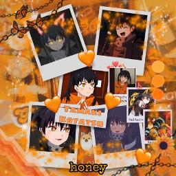 tamakikotatsu fireforce anime orange orangeaesthetic freetoedit