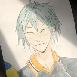 anime drawing doodle art traditionalart animeart sketch watercolor yamaguchi yamaguchitadashi tadashiyamaguchi haikyuu haikyu hq karasuno haikyuuart tadashi