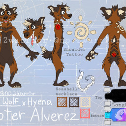 notforsale not referencesheet refsheet fursona furry furrypride hyena africanwilddog drawing illustration digitaldrawing digitalpainting coolart fursuit