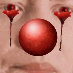 bloodeyes clown funnyish lol hello it freetoedit