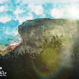 painting original knowskilz mountains lensflare sunny day nature travel art interesting summer colorado brushed light 2020 picsart procreate