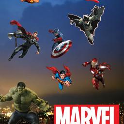 marvel capitanamerica superman wonderwoman ironman batman spiderman thor hulk freetoedit