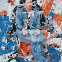 aesthetic collage kimnamjoon btsnamjoon vintage retro namjoon retroaesthetic vintageaesthetic bts freetoedit