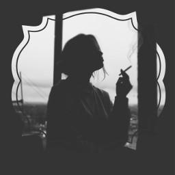 cigarette silhouette quote