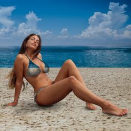 girl prettygirl pose model bikinipose bikinimodel bikini swimsuit bathingsuit swimwear beach beachwear longhair legs photoart photoedit digitalart loveandkisses freetoedit