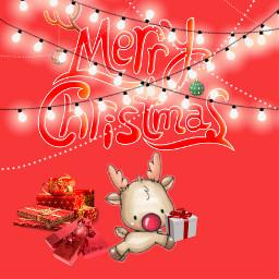 merychristmas reindeer chrismasiscoming freetoedit